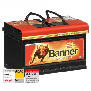 Banner Power Bull Autobatterien 12V 72Ah 660A P7209 TEST ADAC Stiftung Warentest SEHR GUT